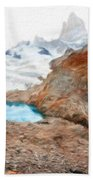 Nature Oil Painting Landscape Bath Towel