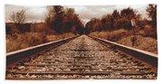 86ed On The Tracks Bath Towel