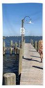 Indian River Lagoon At Eau Gallie In Florida Usa Bath Towel