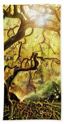 9 Abstract Japanese Maple Tree Hand Towel