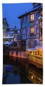 Colmar,petite Venice, Alsace, France, Bath Towel