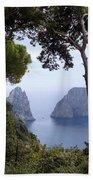 Faraglioni - Capri Bath Towel