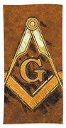 Freemason, Mason, Masonic Symbolism Bath Towel