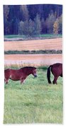 Horses Of The Fall Bath Towel
