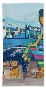 Marseille Street Art, Le Panier And Le Cours Julien Bath Towel