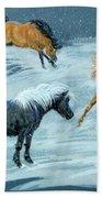 #9 - Ponies In Snow Bath Towel