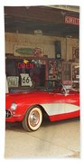 Route 66 Corvette Bath Towel