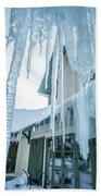Snowshoe Mountain Village And Restaurants And Shops On A Sunny D Bath Towel