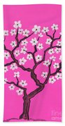 Spring Tree In Blossom, Painting Bath Towel