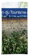 Street Scenes From Giverny France Bath Towel