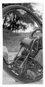 90 M P H Monocycle - 1933 Bath Towel