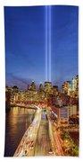 911 Tribute In Light In Nyc II Bath Towel