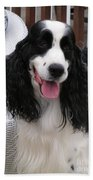 #940 D1038 Farmer Browns Springer Spaniel Adorable Happy Bath Towel