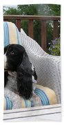 #940 D1052 Farmer Browns Springer Spaniel Bath Towel