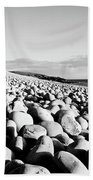 A Beach Of Stones Bath Towel