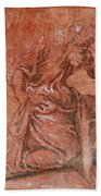 A Bearded Saint Kneeling Bath Towel
