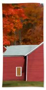 A Beautiful Country Building In The Fall 2 Bath Towel