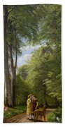 A Beech Wood In May Near Iselingen Manor Bath Towel