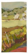A Bend In The Road Hand Towel by Jennifer Lommers