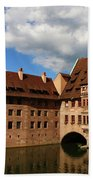 A Big Sky Over Old Architecture Hand Towel