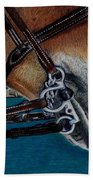 A Bit Of Control - Horse Bridle Painting Bath Towel