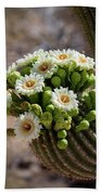 A Bouquet Of Saguaro Blossoms Bath Towel