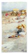 A Busy Beach In Summer Bath Towel