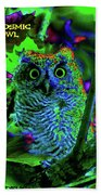A Cosmic Owl In A Psychedelic Forest Bath Towel