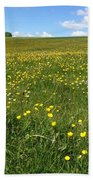 A Field Of Buttercups Bath Towel