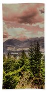 A Glimpse Of The Mountains Bath Towel
