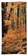 A Golden Autumn Forest  Bath Towel