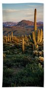 A Golden Sonoran Evening  Bath Towel