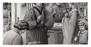 A Goldsmith's Shop In 15th Century Italy Hand Towel