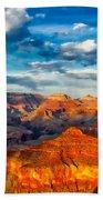 A Grand Canyon Sunset Bath Towel