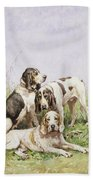 A Group Of French Hounds Bath Towel