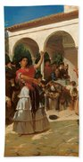 A Gypsy Dance In The Gardens Of Alcazar Bath Towel