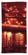 A Hot Night On Biscayne Bay Hand Towel