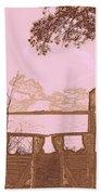 A Lake Murray Sc Sketch Bath Towel