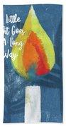 A Little Light- Art By Linda Woods Bath Towel