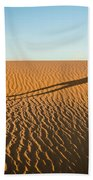A Long Desert Run Bath Towel