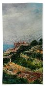 A Maltese Country Landscape Bath Towel