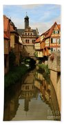 A Medieval Village In Germany Bath Towel