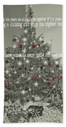 A Merry Little Christmas Quote Bath Sheet