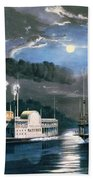 A Midnight Race On The Mississippi Hand Towel