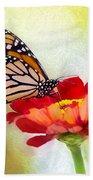 A Monarch Moment Bath Towel