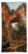 A Natural Bridge In Virginia Bath Towel