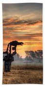 A New Day The Iron Horse Bath Towel