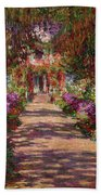 A Pathway In Monets Garden Giverny Bath Towel