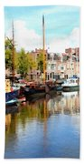 A Peaceful Canal Scene - The Netherlands L B Bath Towel