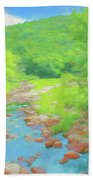 A Peaceful Summer Day In Southern Vermont. Bath Towel